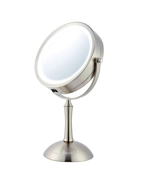 "OVENTE 7"" Lighted Makeup Mirror with Cool Led Lighting"