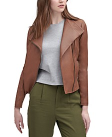 Felix Asymmetrical Leather Moto Jacket