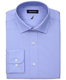 Men's Slim-Fit Comfort Stretch White Solid Dress Shirt