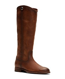 Women's Melissa Button 2 Wide-Calf Tall Leather Boots