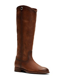 Frye Women's Melissa Button 2 Wide-Calf Tall Leather Boots