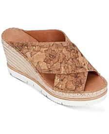 by Kenneth Cole Women's Elyssa X-Band Espadrille Wedges