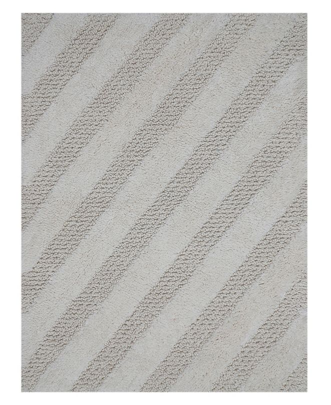 "Perthshire Platinum Collection Diagonal Honeycomb 20"" x 30"" Bath Rug"