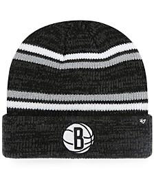 Brooklyn Nets Marled Stripe Cuff Knit Hat