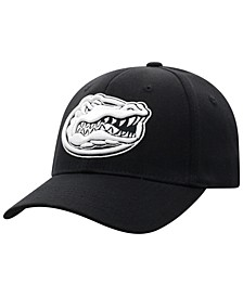 Florida Gators Black White Flex Stretch Fitted Cap