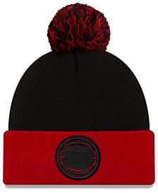 Detroit Pistons Black Pop Knit Hat