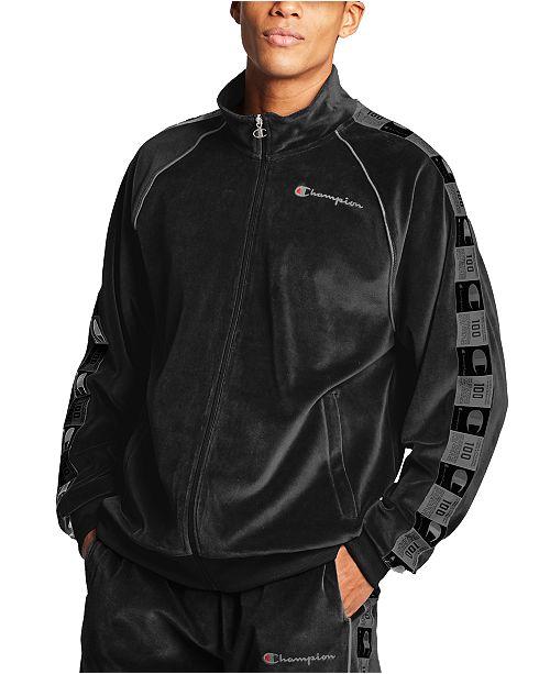 Champion Men's Velour Track Jacket