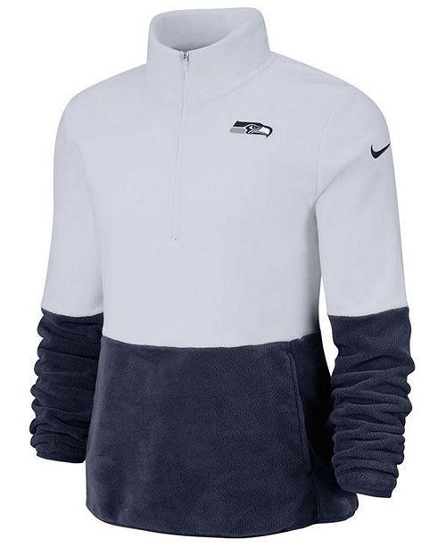 Nike Women's Seattle Seahawks Half-Zip Therma Fleece Pullover