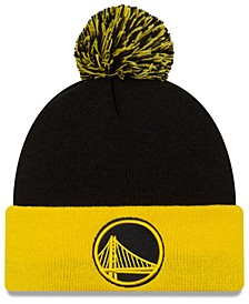 Golden State Warriors Black Pop Knit Hat