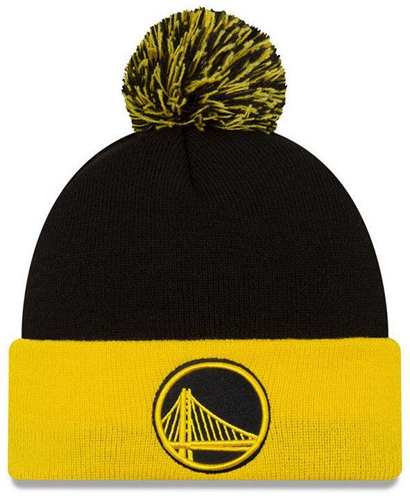 New Era Golden State Warriors Black Pop Knit Hat