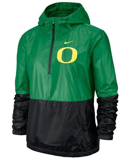 Nike Women's Oregon Ducks Half-Zip Jacket
