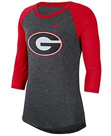 Women's Georgia Bulldogs Logo Raglan T-Shirt