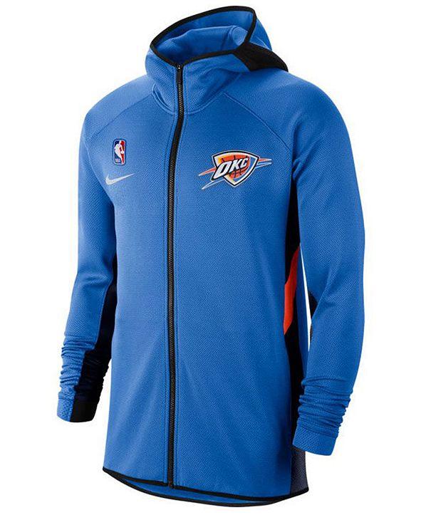 Nike Men's Oklahoma City Thunder Thermaflex Showtime Full-Zip Hoodie