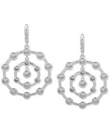 Crystal Orbital Drop Hoop Earrings