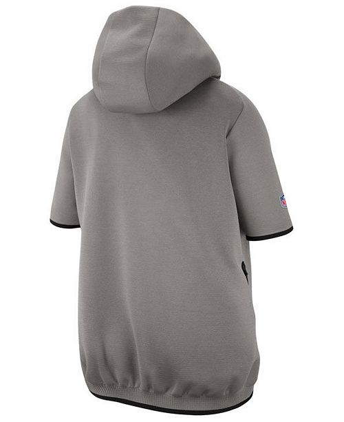 Men's New England Patriots Player Repel Short Sleeve Hoodie