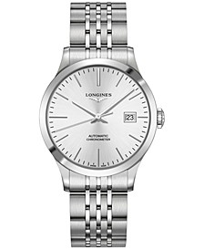 Men's Swiss Automatic Record Collection Stainless Steel Bracelet Watch 38.5mm