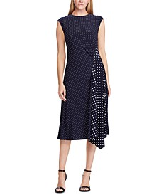 Petite Polka-Dot Stretch Jersey Dress
