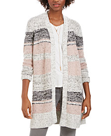 Style & Co Striped Cardigan, Created For Macy's