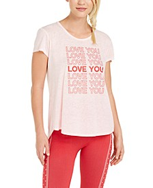 Love Graphic Split-Back T-Shirt, Created for Macy's