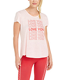 Ideology Love Graphic Split-Back T-Shirt, Created for Macy's