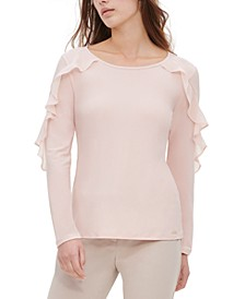 Chiffon-Ruffled Top