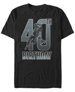 Fifth Sun Men's Marvel Black Panther 40th Birthday Short Sleeve T-Shirt