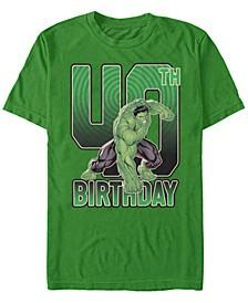 Fifth Sun Men's Hulk Smash 40th Birthday Short Sleeve T-Shirt