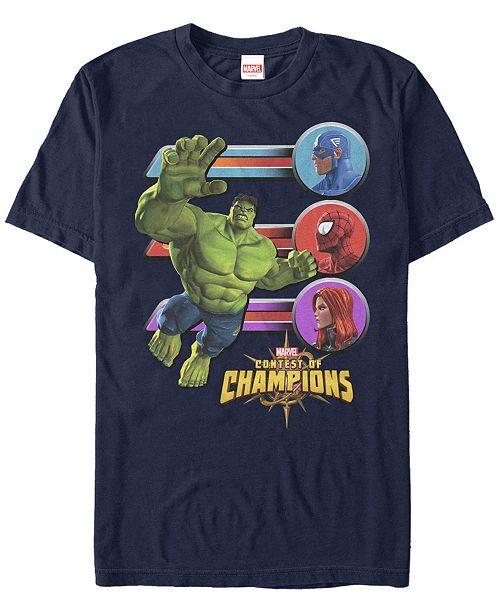 Marvel Men's Gamerverse Hulk Jump Contest Of Champions, Short Sleeve T-Shirt