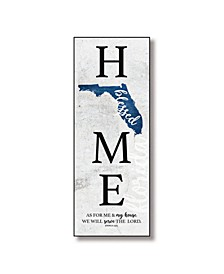 "Florida Home-Blessed Wood Wall Plaque with Hanger, 5.5"" x 12"""