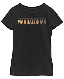 Fifth Sun Big Girl's The Mandalorian Title Fill Logo Short Sleeve T-Shirt