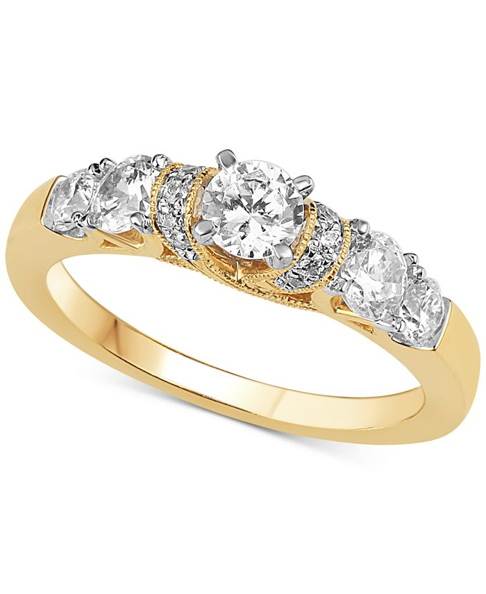 Macy's - Diamond Engagement Ring (1 ct. t.w.) in 14k Yellow Gold