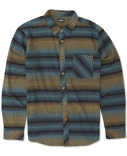 Billabong Men's Freemont Stripe Flannel Shirt