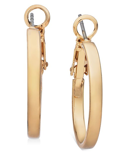 "Charter Club Gold-Tone Small Hoop Earrings, 0.87"", Created For Macy's"