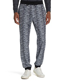Men's Tapered Stretch Snake Skin Print Joggers