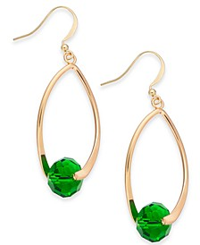 Gold-Tone Faceted Bead Drop Earrings, Created For Macy's