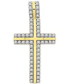 Men's Diamond Cross Pendant (1 ct. t.w.) in 10k Gold