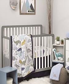 Little Dinosaurs 4-Piece Crib Bedding Set