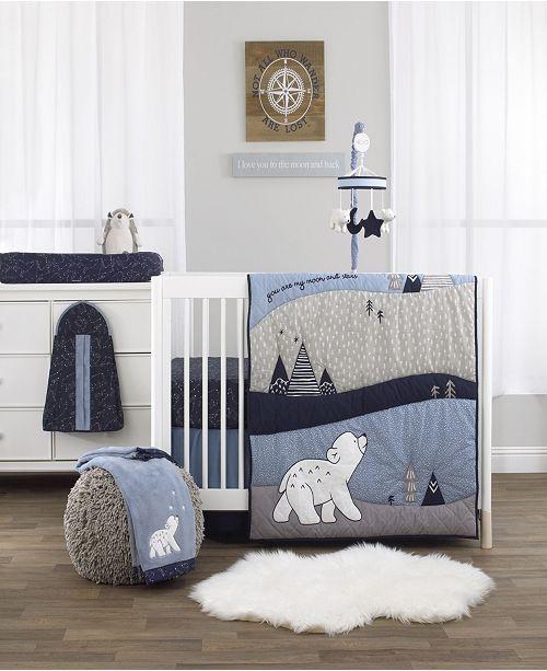 NoJo Cosmo Bear 4-Piece Crib Bedding Set