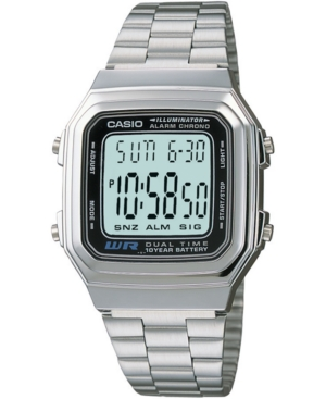 Unisex Digital Stainless Steel Bracelet Watch 32mm