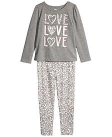 Toddler & Little Girls Love T-Shirt & Leopard Leggings, Created For Macy's