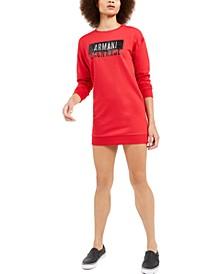 Glitter Sweatshirt Dress