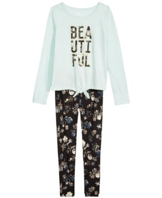 Big Girls Floral-Print Leggings, Created For Macy's