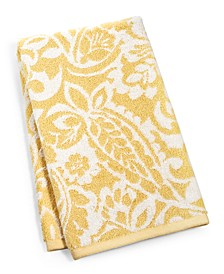 """18"""" x 30"""" Elite Cotton Scroll Paisley Hand Towel, Created for Macy's"""