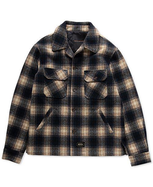 Deus Ex Machina Men's Piston Wool Shirt Jacket