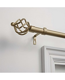 Torch Curtain Rod and Finial Set