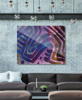 """Kasanka in Purple Abstract 20"""" x 24"""" Acrylic Wall Art Print"""