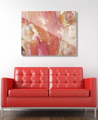 "Fire Horse in Peach Abstract 16"" x 20"" Acrylic Wall Art Print"