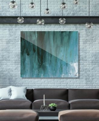 """Kijuujuu in Teal Abstract 16"""" x 20"""" Acrylic Wall Art Print"""