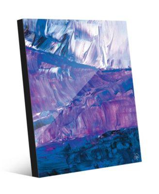 "Casablanca in Blue Abstract 16"" x 20"" Acrylic Wall Art Print"