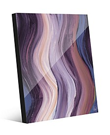 Xcitement in Purple Abstract Acrylic Wall Art Print Collection